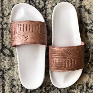 **PUMA** Leadcat Slide Sandals Copper Rose 7.5